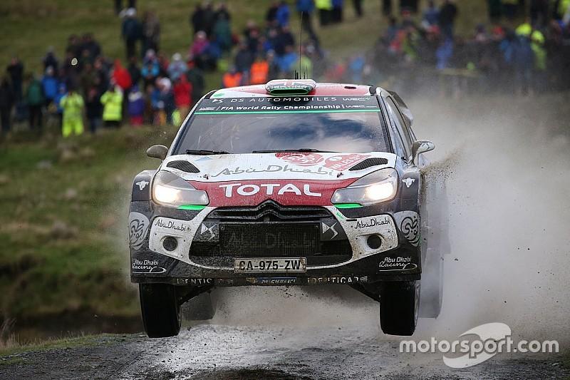 Wales WRC: Meeke takes lead as Ogier is slowed by Neuville roll