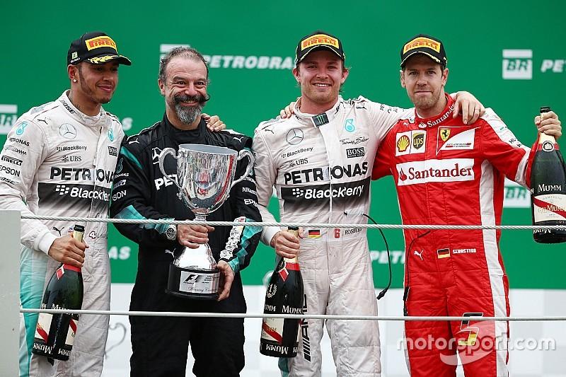 Brazilian GP: Rosberg thwarts Hamilton with lights-to-flag victory