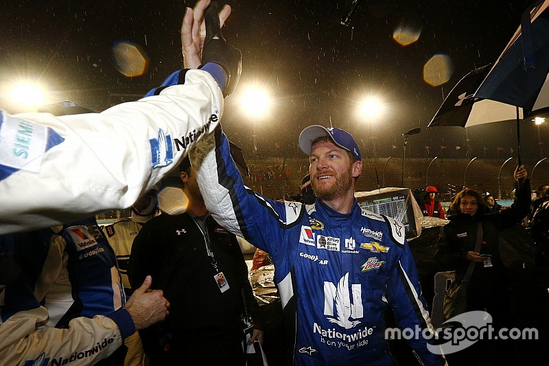 Dale Earnhardt Jr. wins rain-shortened Cup race