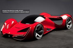 أخبار السيارات  الأكثر تشويقاً كيف سيكون شكل سيارة فيراري في 2040