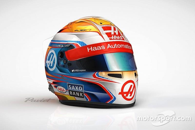 Romain Grosjean svela il casco 2016