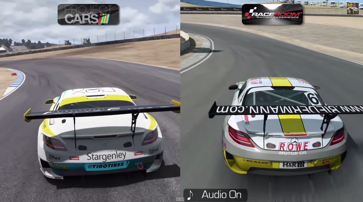Két szimulátor egymás ellen egy Mercedes SLS AMG GT3-mal