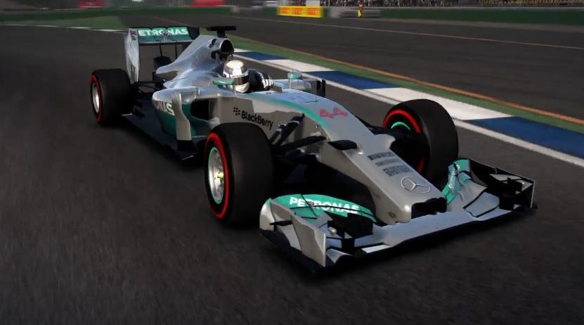 F1 2014: Egy új hivatalos videó a játékról! Hamilton a Mercedesszel Hockenheimben