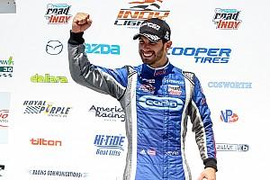 Indy Lights Reporte de la carrera Seriales logra su segunda victoria del año en Iowa