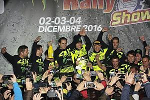 Rally I più cliccati Fotogallery: Valentino festeggia sul podio del Monza Rally Show
