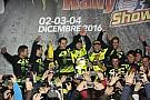 Rally Fotogallery: Valentino festeggia sul podio del Monza Rally Show