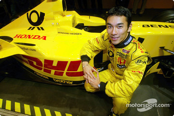 Takuma Sato with the new Jordan Honda EJ12