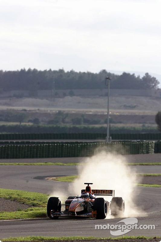 Jos Verstappen on the Valencia circuit