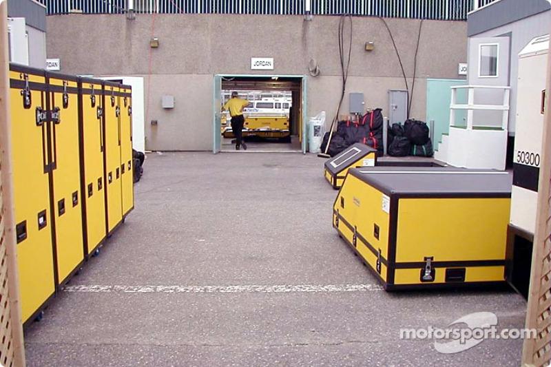 Jordan crates in paddock area