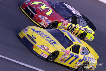 Robert Pressley and Andy Houston battle it out at Charlotte