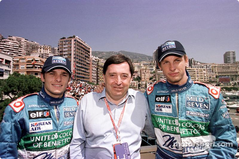 Giancarlo Fisichella, Patrick Faure and Jenson Button