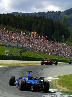 Luciano Burti behind Michael Schumacher