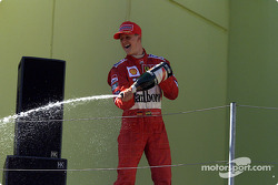 Michael Schumacher celebrating