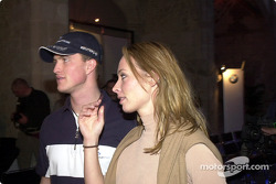 BMW WilliamsF1 Team Fashion Show: Ralf Schumacher and girlfriend Cora Brinkmann
