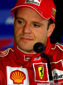 Rubens Barrichello at the press conference