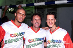 Hope for Children' charity football match: Ronaldo, Zico and Michael Schumacher