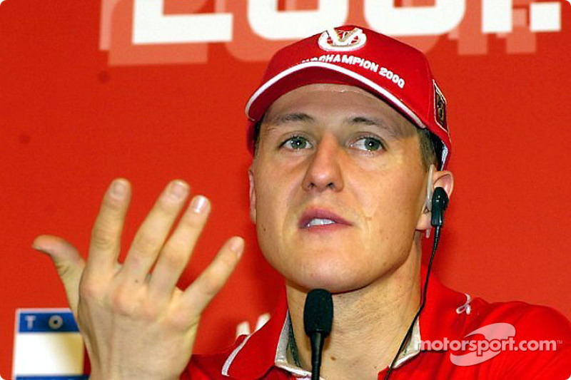 Schumi listening to an Italian journalist