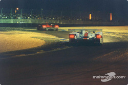 The Johansson Motorsports Audi during the night