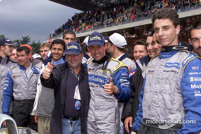 Chrysler Team ORECA celebrating: Olivier Beretta