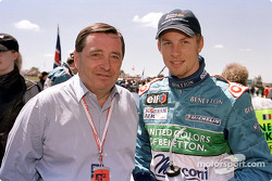 Patrick Faure and Jenson Button