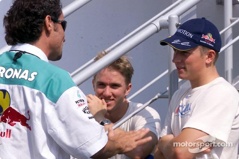 Nick Heidfeld and Kimi Raikkonen