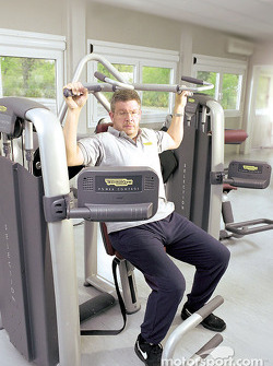 The Wellness Project for the Scuderia Ferrari: Ross Brawn working hard