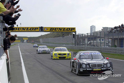 The finish: Uwe Alzen, Christian Abt and Bernd Schneider