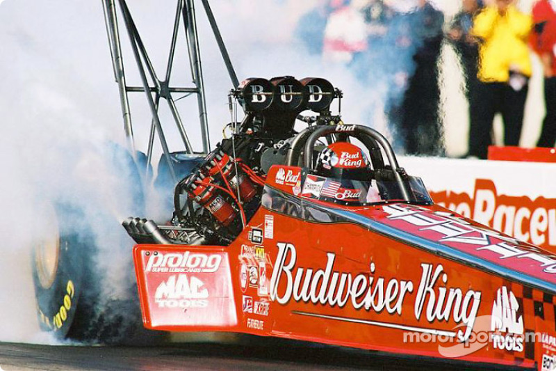 Kenny Berstein finished a close second in top fuel