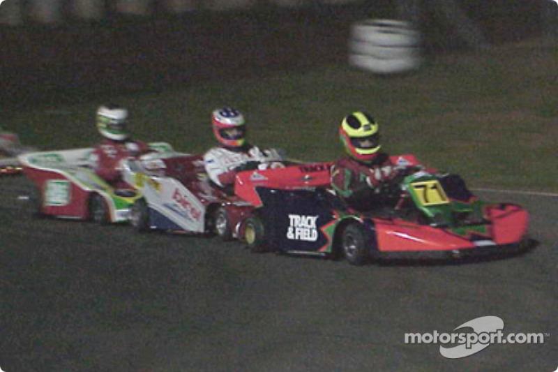 Felipe Giaffone, Rubens Barrichello and Pedro Araujo