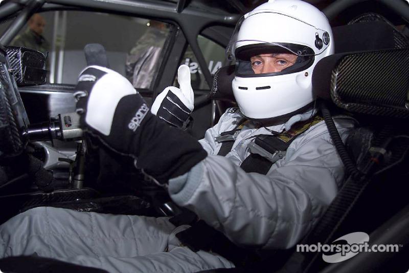 Jean Alesi testing the AMG Mercedes CLK-DTM at Hockenheim
