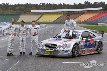 Jean Alesi, with Uwe Alzen, Giuliano Morro and Danny Watts