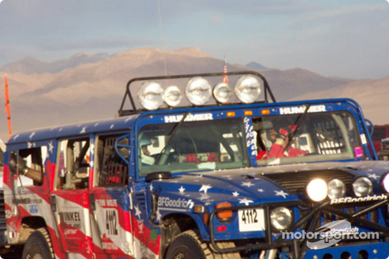 Rod Hall's Hummer getting ready for start