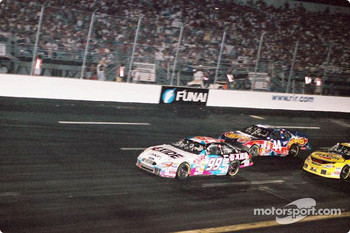 Jeff Burton leading the pack