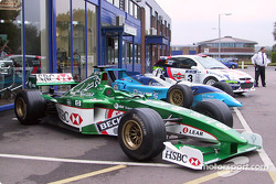 Formula 1, CART Rally cars outside the Cosworth factory