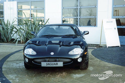 Jaguar road car outside