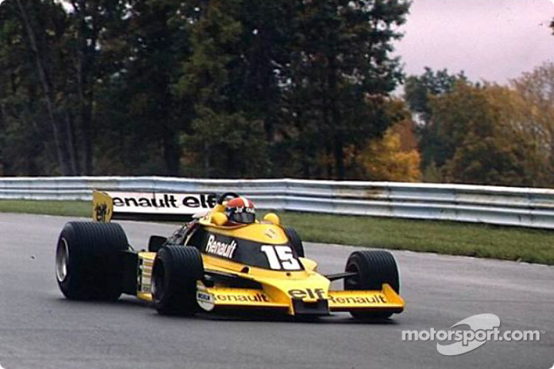 Renault in die  Formula 1: Jean-Pierre Jabouille mit dem Renault RS 01