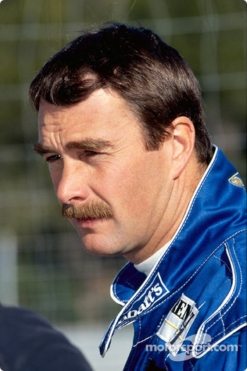 Nigel Mansell during test drive