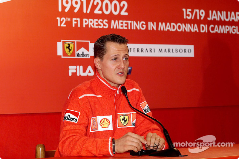 Press conference with Michael Schumacher