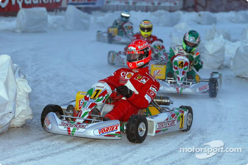 Ice kart race: Michael Schumacher