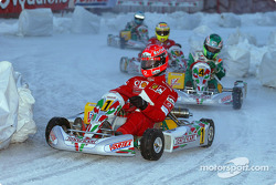 Ice kart race: Michael Schumacher