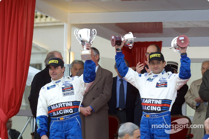The podium: Carlos Sainz