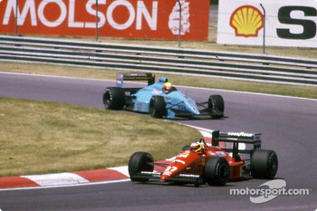 Michele Alboreto and Mauricio Gugelmin