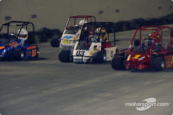 Briggs Junior Sportsman Champ-#23-Matt Norton, #03-Steven Daniels, #1-Jake Crum, #14-Andrew Hall