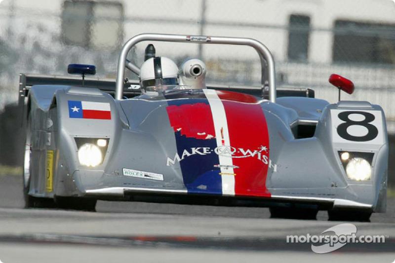 The #8 Nissan Lola won the SRPII class pole position