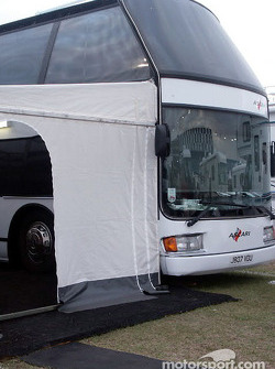 Team Ascari double-decker coach
