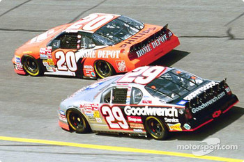 Tony Stewart and Kevin Harvick
