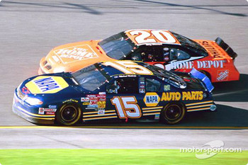 Michael Waltrip and Tony Stewart