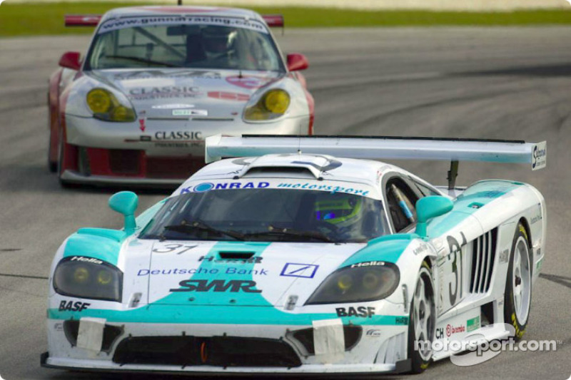The #31 Konrad Motorsports Saleen S7R was the quickest GTS car during Friday's practice sessions