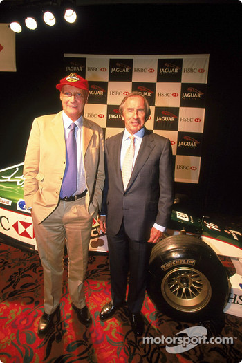 Niki Lauda and Jackie Stewart