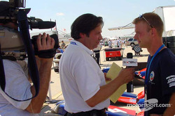 Interview time for Jan Magnussen